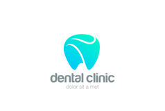 Dental Clinic Logo Tooth abstract design vector template.Dentist stomatology medical doctor Logotype concept icon Royalty Free Stock Photos