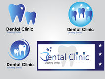 Dental clinic logo Royalty Free Stock Image