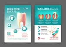 Dental clinic promo flyer cartoon vector pages