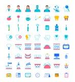 Dental clinic services flat vector icons stock photos