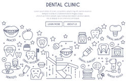 Dental Clinic thin linr Stock Images