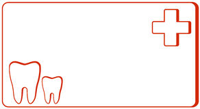Dental clinic - visiting card royalty free illustration