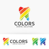 Dental Colors  logo design Royalty Free Stock Image