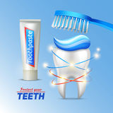 Dental concept Of Teeth Protection Royalty Free Stock Photos