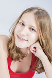 Dental Concepts and Ideas. Young Caucasian Female With Teeth Bra Royalty Free Stock Photos