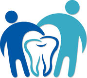 Dental couple logo Royalty Free Stock Images