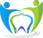 Dental couple logo Royalty Free Stock Photos
