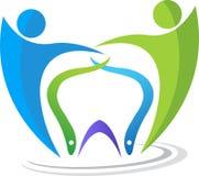 Dental couple logo Royalty Free Stock Photos