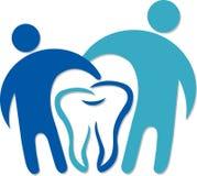 Dental couple logo royalty free illustration