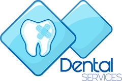 Dental curing services design Stock Images
