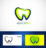 Dental dentist dentistry practice logo Royalty Free Stock Photography
