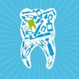 Dental design. Over blue background, vector illustration Royalty Free Stock Images