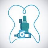 Dental design. Over white background, vector illustration Royalty Free Stock Photography