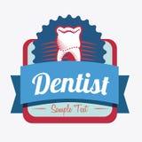 Dental design. Over white background, vector illustration Stock Photos