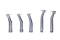 Dental drill tools. Dental drill tools isolated over white background Stock Images