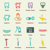 Dental elements Royalty Free Stock Photography