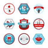 Dental Emblem Set Stock Photos