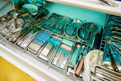 Dental equipment, dentistry, medical devices for the treatment and restoration of teeth stock photo