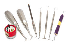 Dental equipment ,medical equipment tools Stock Photo