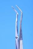 Dental equipment on white background Royalty Free Stock Photos