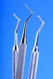 Dental equipment on white background Royalty Free Stock Photography