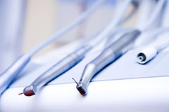 Dental euipment closeup Royalty Free Stock Photo