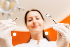 Dental exam Royalty Free Stock Image