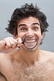 Dental exam of teeth Stock Image