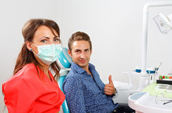Dental examination Stock Photo