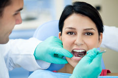 Dental examining Royalty Free Stock Photography