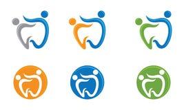 Dental Family Logo Royalty Free Stock Image