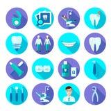 Dental Flat Icon Set Stock Photography