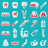 Dental Flat Sticker Icons Set Royalty Free Stock Photos