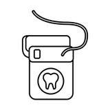 Dental floss  icon Royalty Free Stock Image