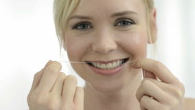 Dental floss stock video
