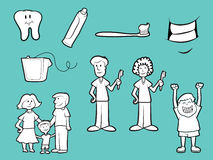 Dental Health Icons Royalty Free Stock Photography