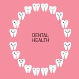 Dental Health. Teeth diagram chart. Stock Photo