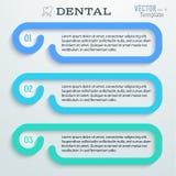 Dental-horizontal-bandeira-molde-dentífrico ilustração stock