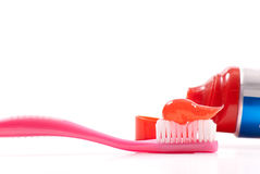 Dental Hygiene Background. Concept With Toothbrush And Toothpaste Royalty Free Stock Photos