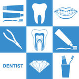 Dental Hygiene. Icon Set Stock Photos