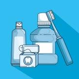 Dental hygiene medicine to teeth treatment. Vector illustration royalty free illustration