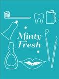 Dental Hygiene Symbols Icons Royalty Free Stock Photography