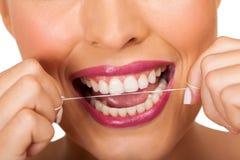 Dental hygiene woman Royalty Free Stock Photos