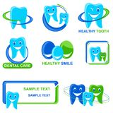 Dental Icon. Vector illustration of collection of different Dental Icon Stock Images