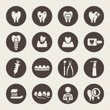 Dental icon set.  Stock Image