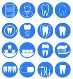 Dental icon set Stock Photo