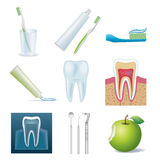 Dental icon set Royalty Free Stock Photo