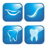 Dental icons logo Royalty Free Stock Photo