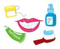 Dental Icons Royalty Free Stock Image
