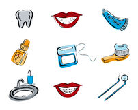 Dental Icons Stock Photo